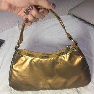 Gold LeSportSac Small Handbag